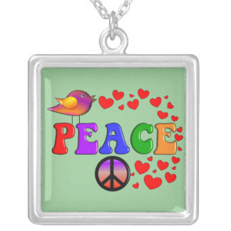Collar de la paz, colgante de la plata esterlina