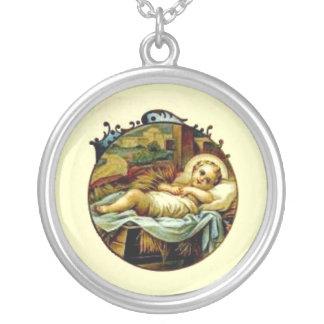 Collar de la plata esterlina de Jesús del bebé