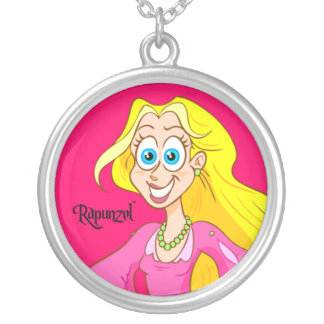 Collar de la plata esterlina de Rapunzel™ - rosa