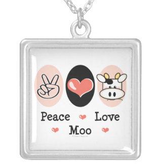 Collar de la vaca del MOO del amor de la paz