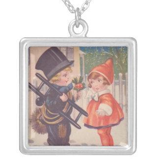 Collar de los niños del navidad del Victorian del