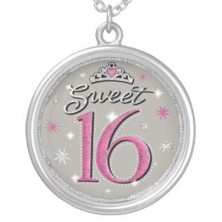 Collar de plata de Bithday del dulce 16