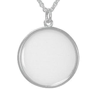 Collar De Plata De Ley Crea Tu Propio Medallón De Plata Esterlina Persona