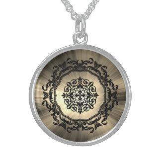 Collar De Plata De Ley ¡Diseño gótico del damasco!