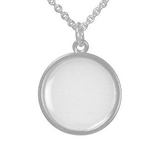 Collar De Plata De Ley Medallón De Plata Esterlina Personalizada