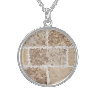 Collar De Plata De Ley Moreno geométrico