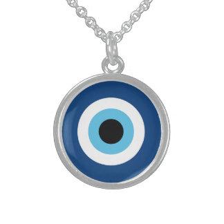 Collar De Plata De Ley Talismán del mal de ojo