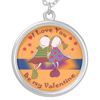 Collar del amor de la tarjeta del día de San Valen