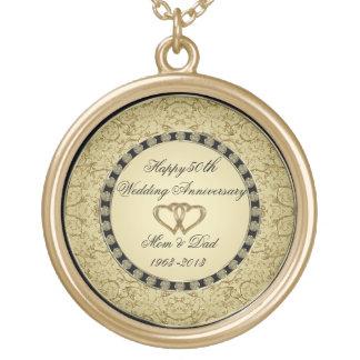 Collar del aniversario de boda de oro
