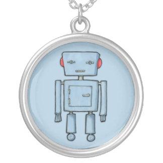 Collar del azul del robot del juguete