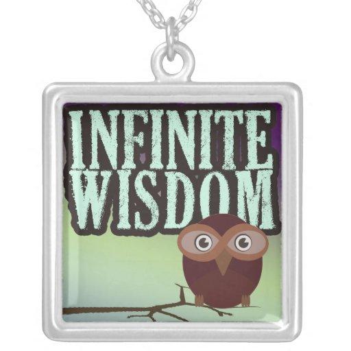 Collar del colgante de la plata de la sabiduría in