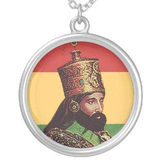 Collar del colgante de Rasta Haile Selassie
