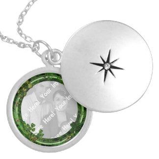 Collar Plateado Collar del día de St Patrick de la foto
