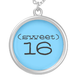 Collar del dulce 16 en turquesa y negro