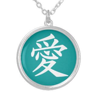 Collar del kanji del amor