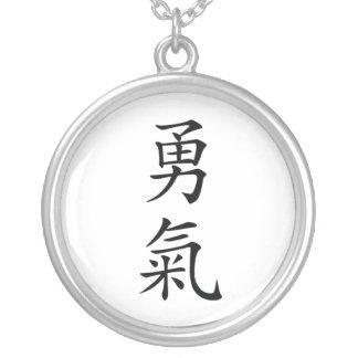 Collar del kanji del valor de Bushido del japonés