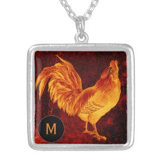 Collar del monograma del gallo Year2017 del fuego