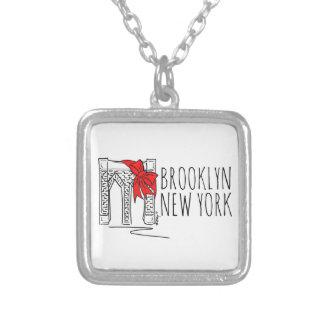 Collar del navidad de Nueva York NYC del puente de Collar Plateado