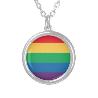 Collar del orgullo de la bandera del arco iris