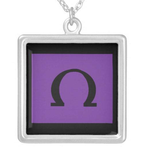 collar del símbolo de Omega de la plata esterlina