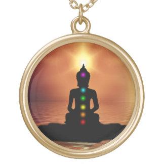 Collar Dorado Buda Chakra