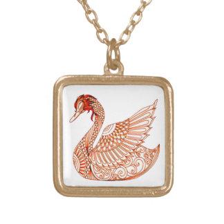 Collar Dorado Cisne 3