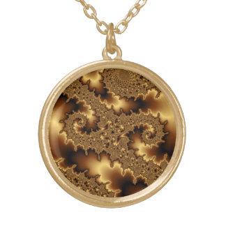 """Collar Dorado El fractal de oro """"extracto del mandelbrot se va"""""""