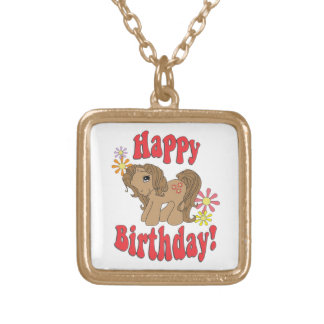Collar Dorado Feliz cumpleaños 4