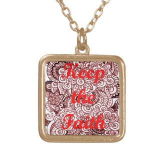 Collar Dorado Guarde la fe