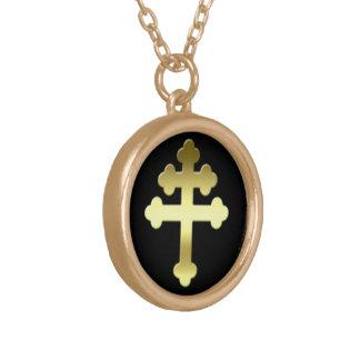 Collar Dorado La cruz de Michelle del francés Croix de Loraine