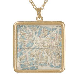 Collar Dorado Mapa de Manhattan