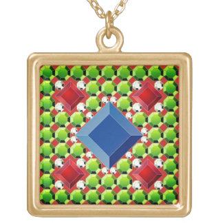 Collar Dorado Mosaico antiguo de la joya