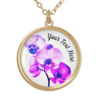 Collar Dorado Orquídeas personalizadas