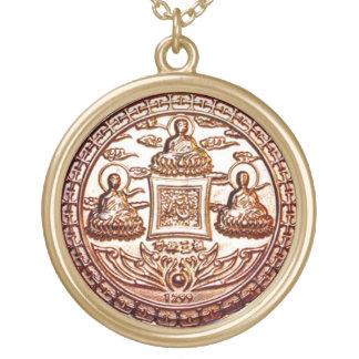 Collar Dorado Talismán del milagro de Trikaya Buda del oro