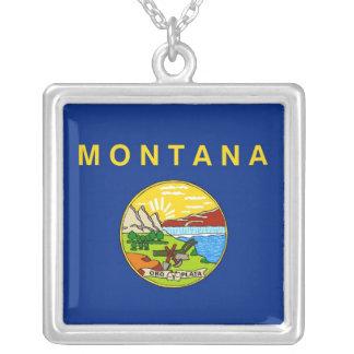 Collar elegante con la bandera del Montana