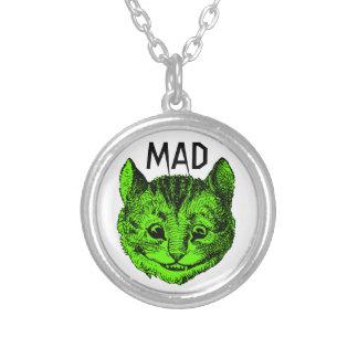 Collar enojado del gato de Cheshire (verde