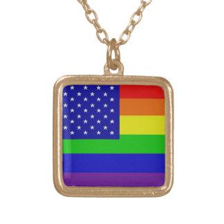 Collar gay de la bandera del orgullo americano