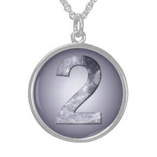 Collar lunar del símbolo dos afortunados