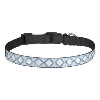 Collar Para Mascotas Argyle/cuello de perro azul del diamante