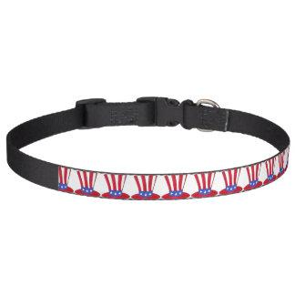 Collar Para Mascotas Bandera americana patriótica los E.E.U.U. del