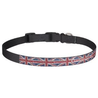 Collar Para Mascotas Bandera de Union Jack - arrugada