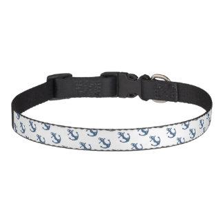Collar Para Mascotas Cree su propia ancla de encargo del azul del