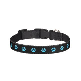 Collar Para Mascotas Cuello de perro azul de la impresión de la pata