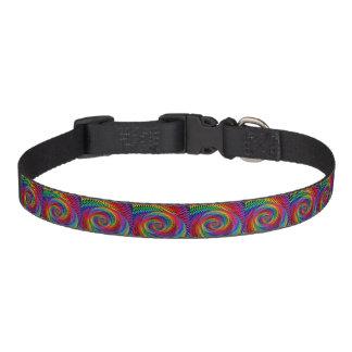 Collar Para Mascotas cuello de perro casero ondulado del fractal del