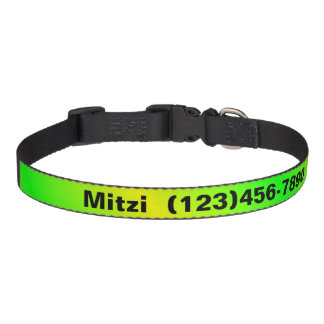 Collar Para Mascotas Cuello de perro coloreado brillante personalizado