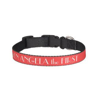 Collar Para Mascotas Cuello de perro rojo coralino personalizado