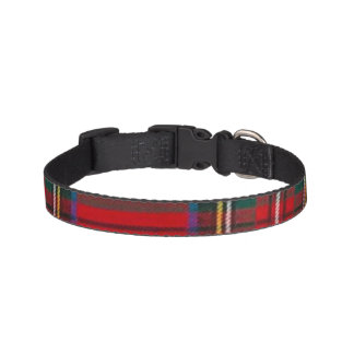 Collar Para Mascotas Cuello de perro rojo del tartán del navidad
