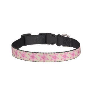Collar Para Mascotas Cuello de perro rosado de la flor