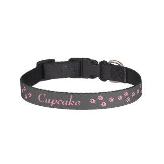 Collar Para Mascotas Cuello de perro rosado de la impresión de la pata