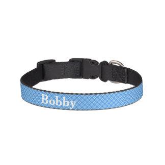 Collar Para Mascotas Cuello personalizado controles azules del mascota